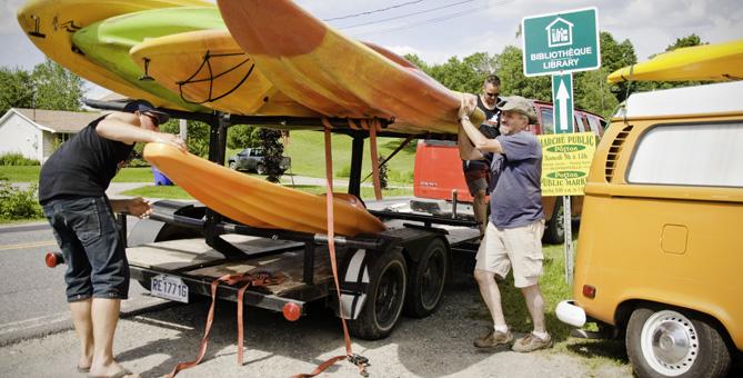 Service de transport de kayak - Camping Nature Plein Air